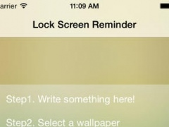 Lock Screen Things Reminder--All important things on Lock Screen 1.0 Screenshot