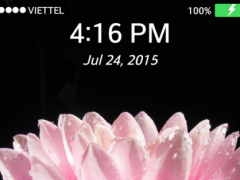 Lock screen Wallpaper: Lotus 1.0 Screenshot