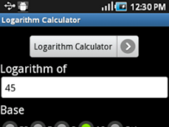 Lograthim Calculator 1.1 Screenshot