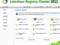 Lotoshare Registry Cleaner 1.1 Screenshot