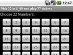 Lotto Sys Gen 22 from 49 1.016 Screenshot