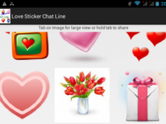 Love Stickers Chat Line 1.0 Screenshot