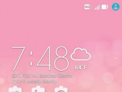 Review Screenshot - ZenUI Theme – Give a Pink Makeover to Your Phone