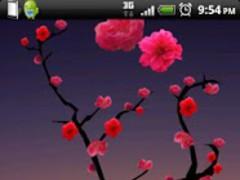 Lovely Red Sakura Live WP 1.0.5 Screenshot