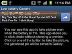 Low Battery Camera 1.4 Screenshot
