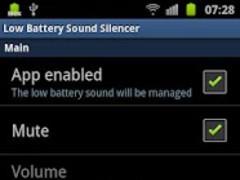 Low Battery Sound Silencer 1.2.0 Screenshot