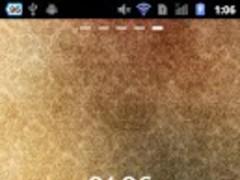 LWP Beige Clock for GREE 1.1.9 Screenshot