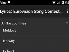 Lyrics: Eurovision 2015 1.1 Screenshot