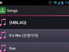 Lyrics for MBLAQ 1.7.3.5 Screenshot