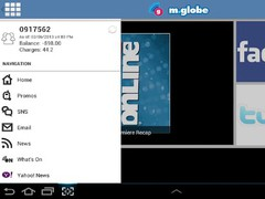 m.globe for Tablet 1.00.008 Screenshot