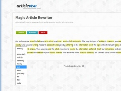 Magic Article Rewriter 1.0 Screenshot