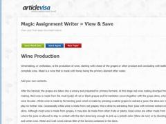 Magic Assignment Writer 1.0 Screenshot