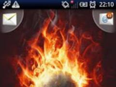 Magic Effect Skull in Fire LWP 1.18 Screenshot