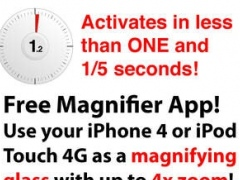 Magnifier Free for iPhone 4 and iPod Touch 4G 1.4 Screenshot
