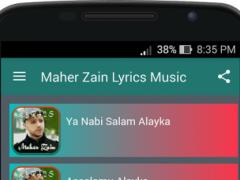 Maher Zain Lyrics Music 4.1.1 Screenshot