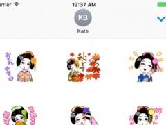 Maiko 3 stickers for iMessage 1.0 Screenshot