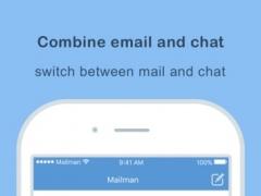 Mailman - Combines email and chat into one app 1.1.0 Screenshot