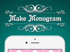 Make Monogram Wallpapers - DIY Designer Backgrounds Creator with Chevron Pattern Theme wallpapers 2.0 Screenshot