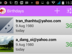 Manage birthdays 1.0 Screenshot