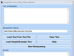 Manipulate Text In Many Ways Software 7.0 Screenshot