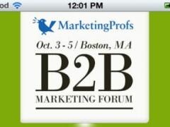 MarketingProfs B2B Forum - BoothTag 1.0 Screenshot