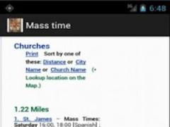 Mass Time Catholic 1.1 Screenshot