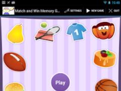 Match and Win Memory Game 1.0 Screenshot