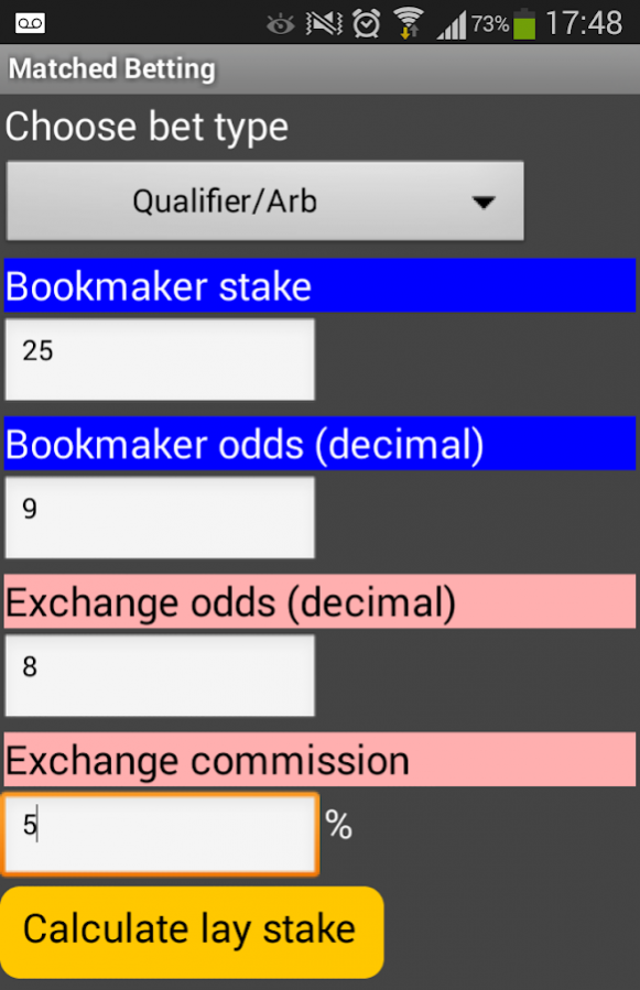 matched betting calculator download