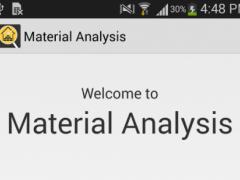 Material Analysis 1.04 Screenshot