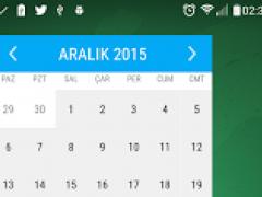 Material Month Calendar Widget 1.2 Screenshot