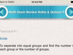 Math Exam Review for self Learning 1600 Flashcards 1.0 Screenshot