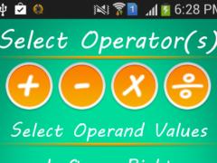 Math Quiz Generator: Add Minus 1.3 Screenshot