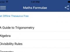 Maths Formula Reference Free 1.0 Screenshot