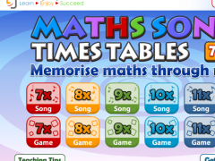 Maths Songs Times Tables 7-12x 1.2 Screenshot
