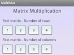 Matrix Multiplication Pro 1.0 Screenshot