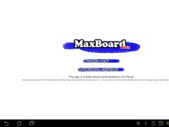 MaxBoard 0.1 Screenshot