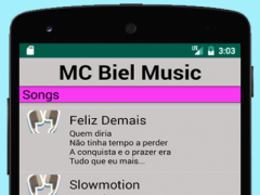 MC Biel Music With Lyrics 1.0 Screenshot