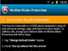 McAfee Dialer Protection 1.1 Screenshot