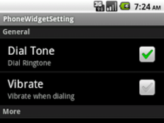 MCG PhoneWidget 1.2 Screenshot