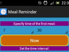 Meal Interval Reminder 1.1 Screenshot