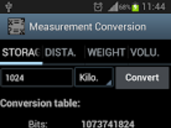 Measurement Conversion (Free) 1.2 Screenshot