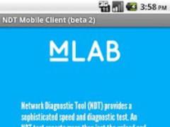 MeasurementLab.net NDT Client 1.0b Screenshot