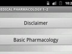 Medical Pharmacolgy 1-2 1.0 Screenshot