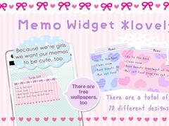 Memo Widget *lovely* 1.72 Screenshot