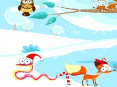 Merry Christmas! Game for children age 2-5 with puzzles, exercises and games. Play with the animals of the forest in winter 1.0 Screenshot