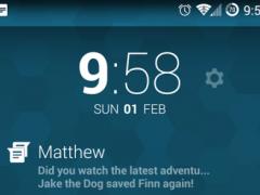 Messenger DashClock Extension 1.3.0 Screenshot