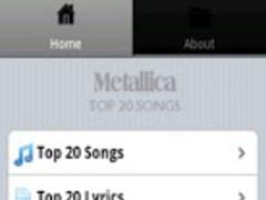 Metallica Songs 1.5 Screenshot