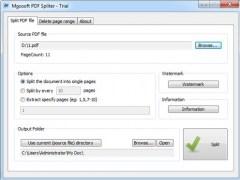 Mgosoft PDF Spliter 9.1.8 Screenshot
