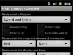 MHtri Damage Calculator 1.0 Screenshot