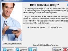 MICR Font Set 7.8 Screenshot